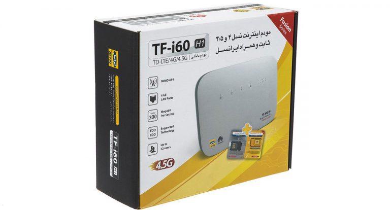 مودم 4G/TD-LTE شرکتی مدل TF-i60 H1 آنلاک به همراه سیم کارت TDLTE , اعتباری 4G